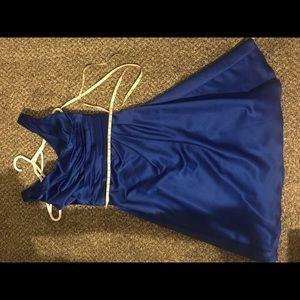 David's Bridal royal blue dress size 2
